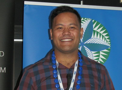 Sky Eye's Chris Saili at the Pacific Wave Conference 2016 in Auckland.