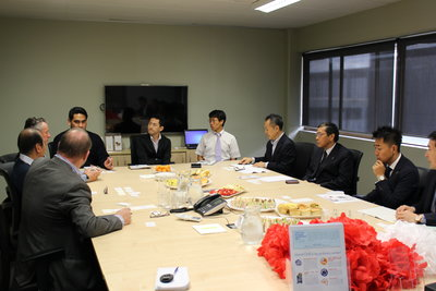 the Japanese delegation at the PT&I Auckland office.