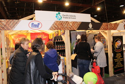 Foodies thronged PT&I's Pacific Hub featuring eight Pacific companies at the Auckland Food Show last week.