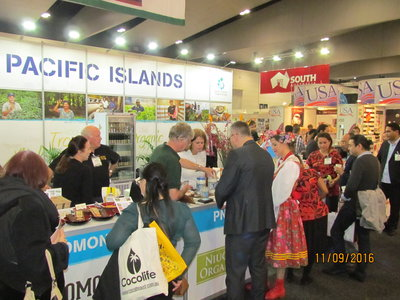 PT&I's Pacific Island stand drew impressive crowds at the Fine Food Australia Show in Melbourne.