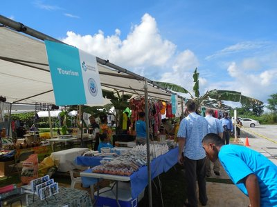 Many of the participants got to apply their skills at the trade fair in Pohnpei