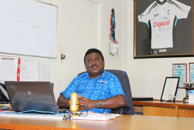 Rakesh Raju FMF Export Manager in his office in Suva.