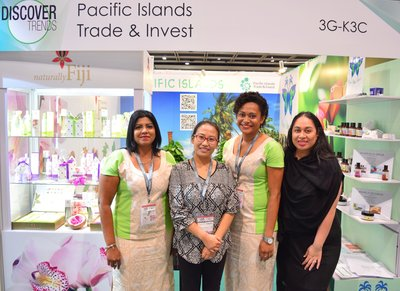 Pacific Island participants at COSMOPROF trade show in Hong Kong.