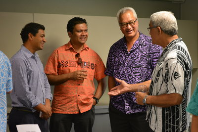 Guests at the launch of the Pasifika Friday initiative at PTI Auckland in 2015.