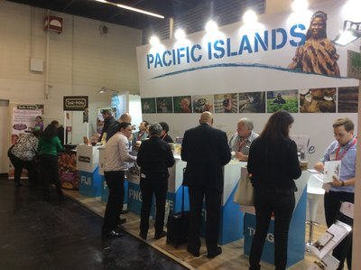 The Pacific Islands booth at ANUGA 2015.