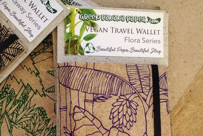 A travel wallet is one of the popular products made at the workshop.