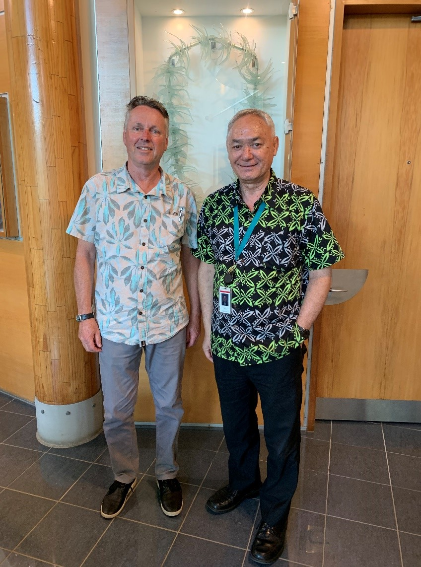 Trade Development Manager Ian Furlong met with Dr Trevor Matheson in Apia